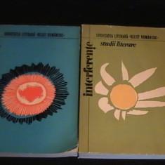 STUDII LITERARE- INTERFERENTE-2 VOL-SOCIETATEA LITERARA-[RELIEF ROMANESC]-/1975-, Alta editura