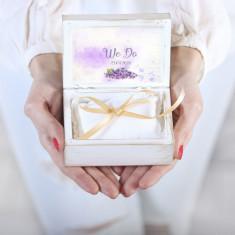 Cutiuta verighete personalizata liliac – Sweet Liliac