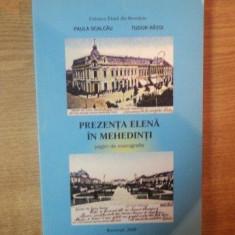 PREZENTA ELENA IN MEHEDINTI, PAGINI DE MONOGRAFIE de PAULA SCALCAU, TUDOR RATOI, 2008 - Carte Istorie