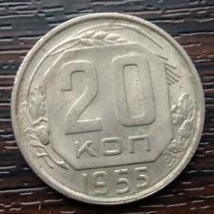 (M86) MONEDA RUSIA - 20 KOPEICI 1955, Europa