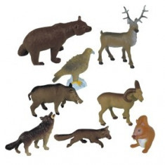 Animale Din Padure Miniland 8 Figurine - Figurina Animale