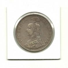 Marea Britanie/Anglia  VICTORIA DUBLU FLORIN 1890 ( Arabic 1)  - VF+