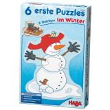 Set 6 Puzzle, Haba, Winter Fun, 2Ani+