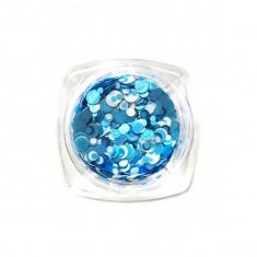 Paiete Confetti Unghii Bleu-Alb