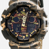 Ceas SPORT Casio G -Shock GA-100CM-CAMUFLAJ, nou+ garantie