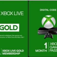 Abonament Microsoft Xbox Live Gold 3 Month + Xbox Game Pass 1 Month Xbox One - Jocuri Xbox One