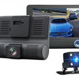 Camera Auto Full HD cu 3 Camere, DVR, ecran 4 inch, fata, spate si interior - Camera video auto, 32GB, Wide, Double, Foto: 1