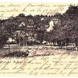 Cluj  Kolozsvar cetatuia si casele vechi ilustrata clasica circulata in 1901, Printata, Cluj Napoca
