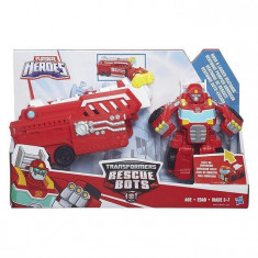 Jucarie Hasbro Playskool Heroes Transformers Rescue Bots Rescue Rig Hook & Ladder Heatwave Fire Bot - Vehicul