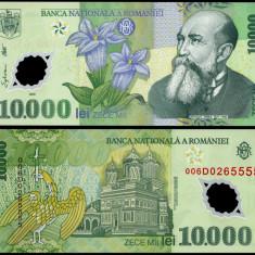 10000 LEI 2000 POLIMER semnatura GHIZARI UNC NECIRCULATA - Bancnota romaneasca