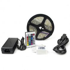 Kit banda RGB 150SMD 300SMD telecomanda controller si alimentator