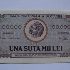 Bancnota 100000 lei 1947 (una suta mii lei)