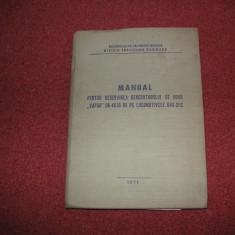 MANUAL PENTRU DESERVIREA GENERATORULUI DE ABUR''VAPOR''OK-4616 DE PE LOCOMOTIVE