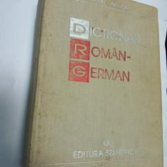 DICTIONAR  ROMAN - GERMAN - Mihai Anutei - Editura Stiintifica 1996
