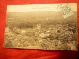 Ilustrata -orasul Verdun la 1906 inainte de bombardamentele din ww1, Circulata, Printata
