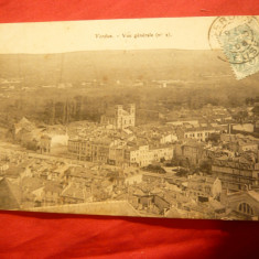 Ilustrata -orasul Verdun la 1906 inainte de bombardamentele din ww1