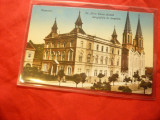 Ilustrata Timisoara - Institutul si Biserica Notre Dame - Timisoara 1915, Circulata, Printata