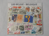 Colectie 100 timbre Belgia - sigilate