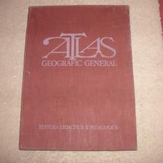 ATLAS GEOGRAFIC GENERAL  (1980)- Stare foarte buna