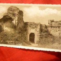Ilustrata DEVA- Ruinele Cetatii, interbelica - Carte Postala Transilvania dupa 1918, Necirculata, Fotografie