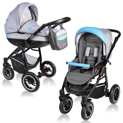 Carucior Crooner 2 In 1 - Vessanti - Blue/Gray foto