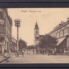 LUGOJ STRADA BISERICII CIRCULATA 1913 - Carte Postala Banat 1904-1918, Printata