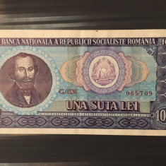 100 lei 1966 - aUNC - Bancnota romaneasca