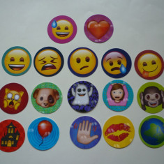 Lot set abtibild abtibilduri sticker stickere cartonas cartonase Emoji ! - Cartonas de colectie