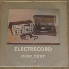Vinyl/Vinil Electrecord Disc test Stereo 33 1/3 R.P.M., EXE 02689, VG+ - Muzica soundtrack