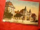 Ilustrata Timisoara - Gara  -circulat 1918, Circulata, Printata