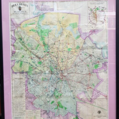 PLANUL GENERAL AL MUNICIPIULUI BUCURESTI, ANII 1930 - Harta Romaniei