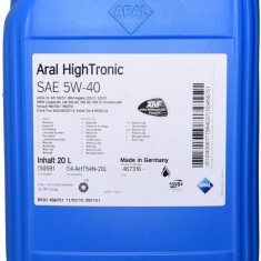 Ulei motor Aral high tronic 5w40, 20l
