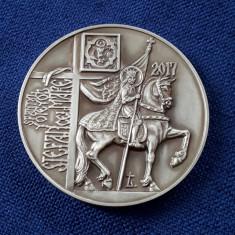 Medalie argint Stefan cel Mare - aniversara - tiraj 50 bucati