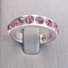 Inel din argint cu ametist. Masura 15 - Inel argint