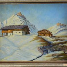 Tablou / pictura semnat inramat, Natura, Ulei, Realism