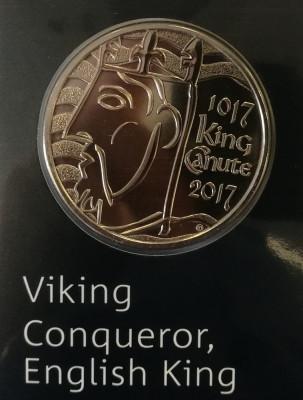 ANGLIA ( UK ) - 5 Lire 2017 - Viking Conqueror - Brilliant Uncirculated foto