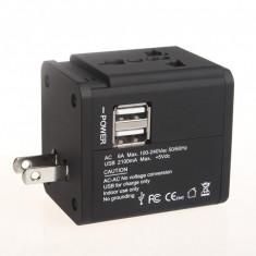 Adaptor Ac Universal 2 Usb 2.1A 158 Blk Serioux
