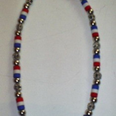 Colier cu insertii metalice unisex ( medalion ) Jamaica