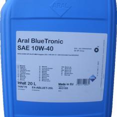 Ulei motor Aral blue tronic 10w40, 20l
