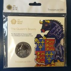 ANGLIA ( UK ) - 5 Lire 2018 - Queen's Beasts Black Bull - Brill. Uncirculated, Europa