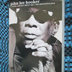 JOHN LEE HOOKER - COME AND SEE ABOUT ME (1 DVD ORIGINAL - STARE FOARTE BUNA!)
