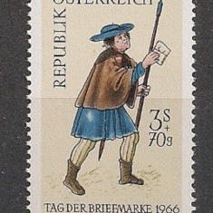 Austria 1966 – UNIFORMA POSTAS, timbru nestampilat N157