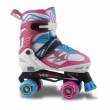 Patine cu rotile Fila Joy White/Pink/Light Blue