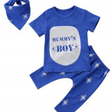 Costum 3 piese Mummys Boy, Marime: 3-6 luni, 9-12 luni, 12-18 luni, 1-2 ani