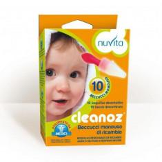 CLEANOZ REPLACEMENT TIPS 10 PCS - Aspirator nazal copii Nuvita