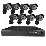 Cumpara ieftin Sistem supraveghere 8 camere video CCTV, telecomanda inclusa