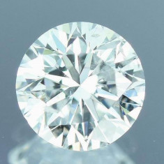 DIAMANT NATURAL ALB-certificat autenticitate0,144ct.-3,39mm-D-VVS2-pret-excelent, Briliant