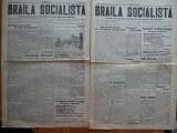 Ziarul Braila Socialista , an 1 , nr. 1 si 2 , 1926