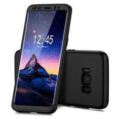 Capac de protectie Full silicone 360°(fata+spate) pentru Samsung Galaxy S8, negru - Husa Telefon