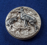 Medalie argint Capra Neagra - Fauna si flora Romaniei - tiraj 25 bucati